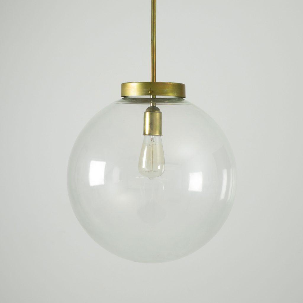 lampara de techo vintage bola cristal