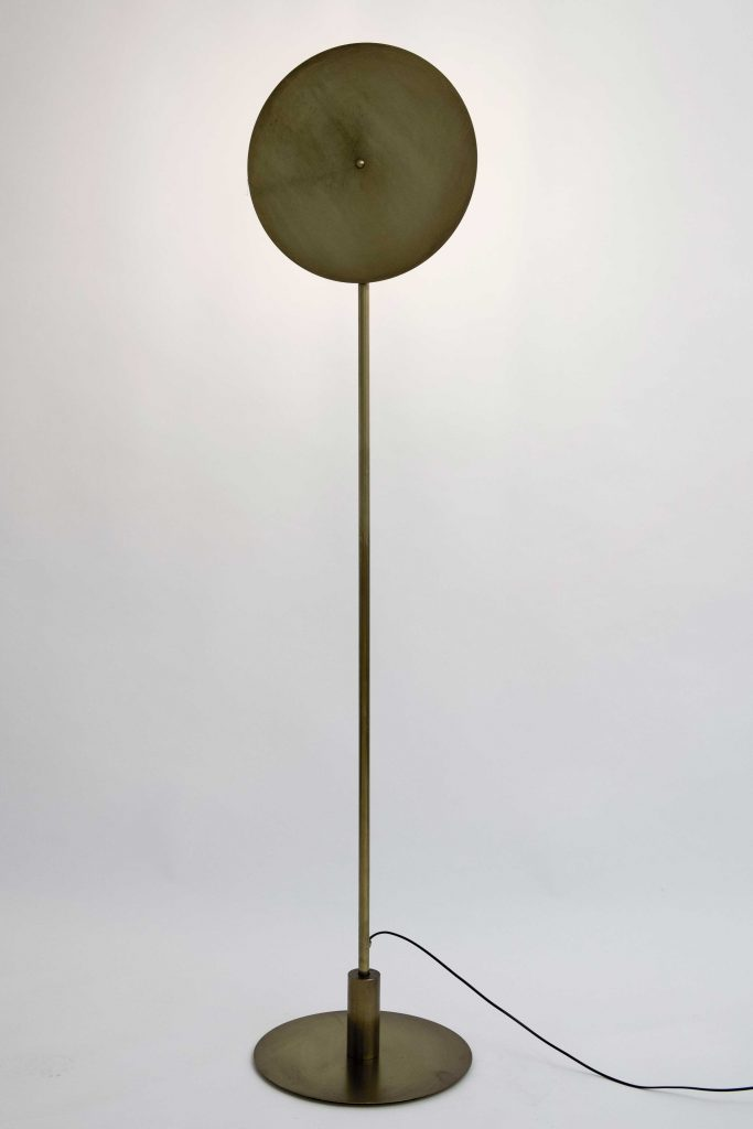 lampara de pie vintage moon