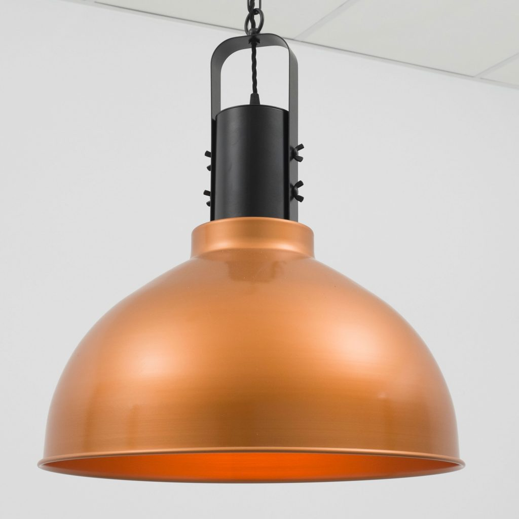 Lámpara estilo industrial colgante de cobre