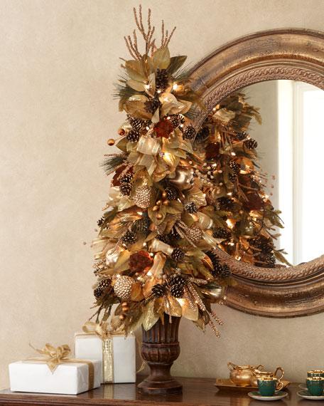 decoracion arbol vintage cobre