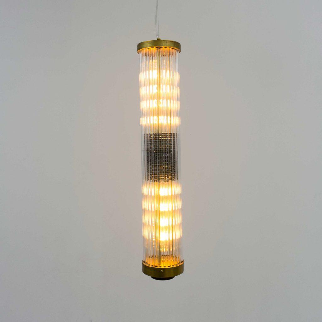 lampara vintage cristal rayado
