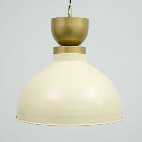 lampara de techo vintage color crema oro