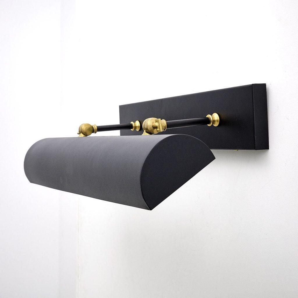 aplique de pared vintage iluminacuadros negro
